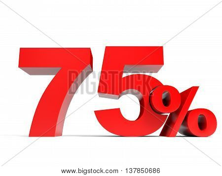 Red Seventy Five Percent Off. Discount 75%.