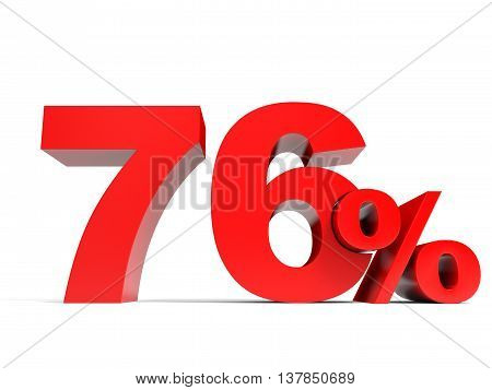 Red Seventy Six Percent Off. Discount 76%.