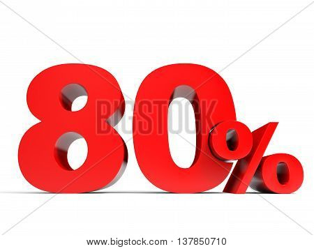 Red Eighty Percent Off. Discount 80%.