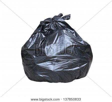 Garbage bag have waste inside isolated on white background and have clipping path.