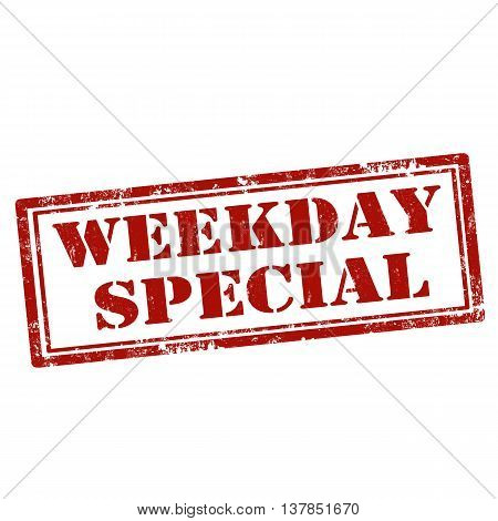 Grunge rubber stamp with text Weekday Special,vector illustration