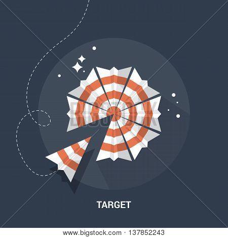 Target and goal flat modern logo design
