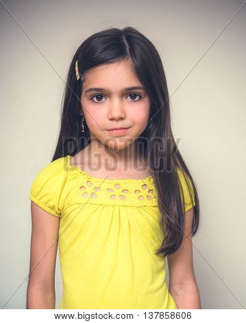 Portrait Of A Young Girl Acting