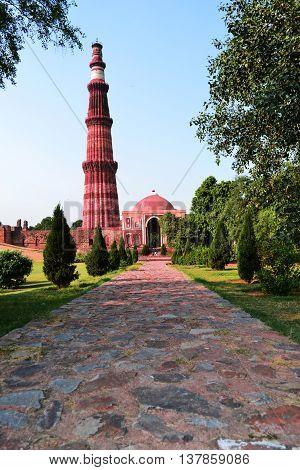 Image of Qutb Minar, New Delhi- India