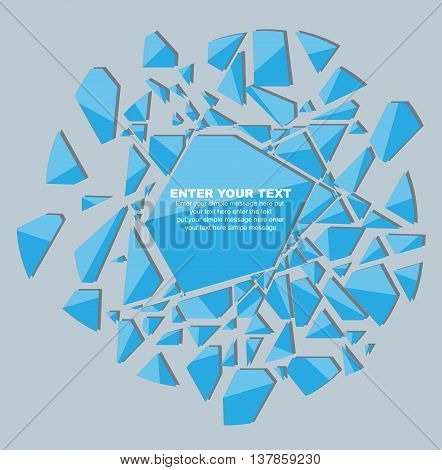 CRUSHED ELEMENTE TEMPLATE MESSAGE STICKER SECOND EDITION BLUE