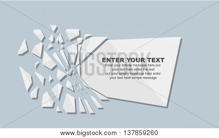 CRUSHED ELEMENTE TEMPLATE MESSAGE STICKER WHITE for web