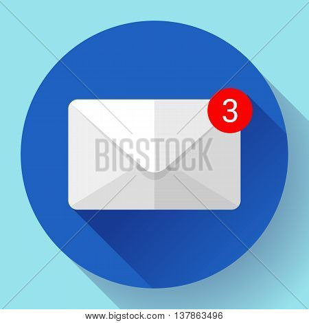 Envelope Mail Icon new letter sms message notification Flat 2.0 design style