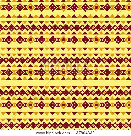 Tribal ethnic texture. Raster illustration hand drawn. Geometric seamless pattern in ethnic style. Vector.