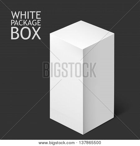 White Product Cardboard Package Box For Software, DVD, Electronic Device And Other Products. Mockup Template Ready For Your Design.