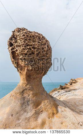 Oddly corroded rocks in Yeliu in Taiwan