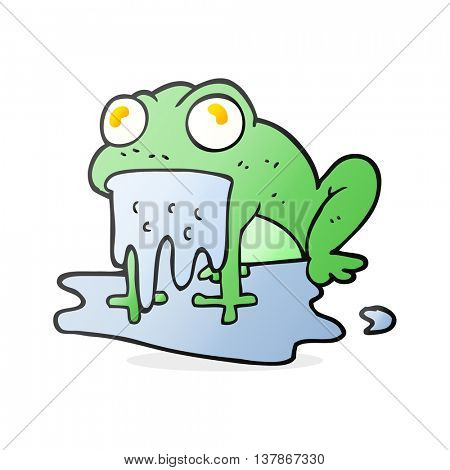 freehand drawn cartoon gross little frog