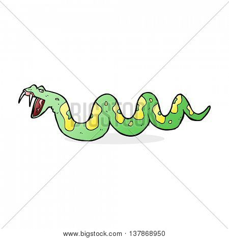 cartoon poisonous snake