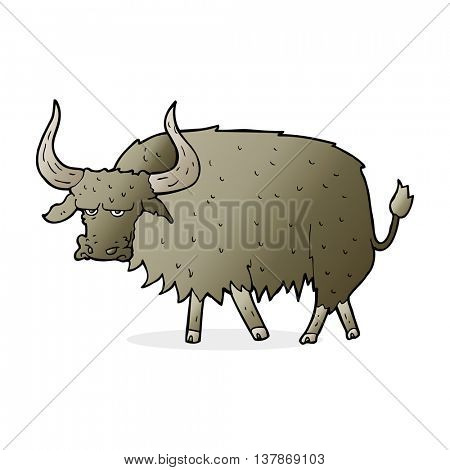 cartoon annoyed hairy cow