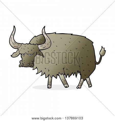 cartoon annoyed hairy cow