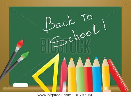Vector illustration of back to school