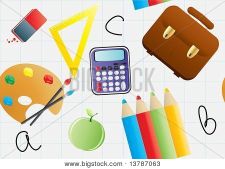 Vector illustration of seamless education background