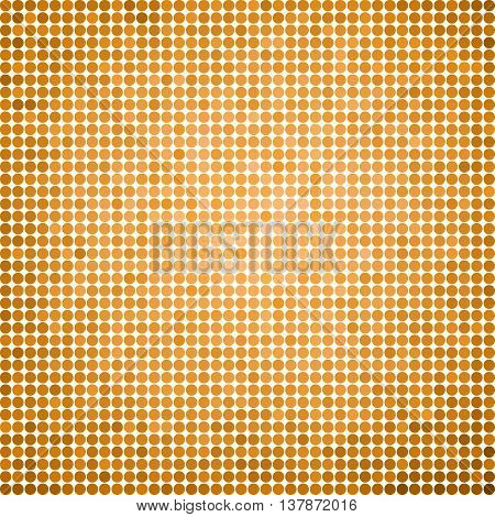 abstract vector colored round dots background - orange