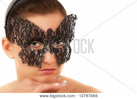 Teenage Girl With Face Mask