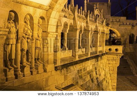 View on Fisherman's Bastion in Budapest Hungary