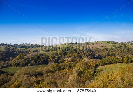 View of the hills of Sabina in Lazio