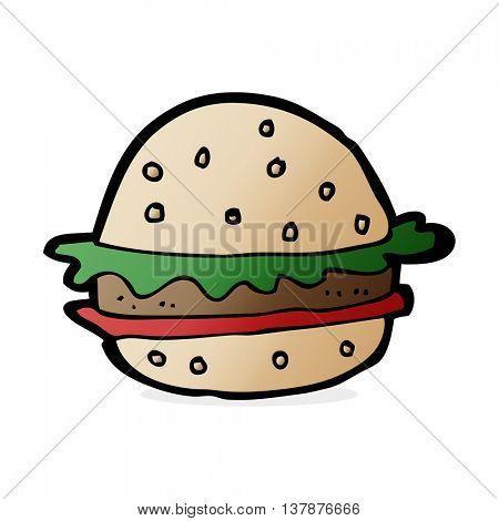 cartoon hamburger