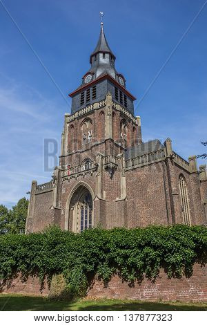 Catholic church in the historic center of Kranenburg Germany