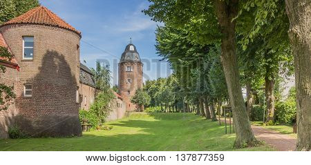 Mill tower in the historic center of Kranenburg Germany