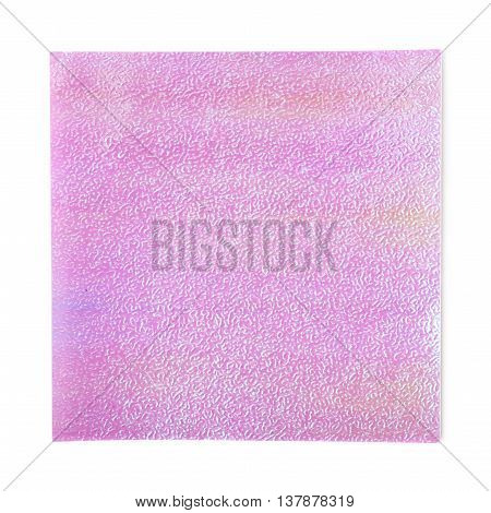 Colorful square sheet of origami paper isolated over the white background