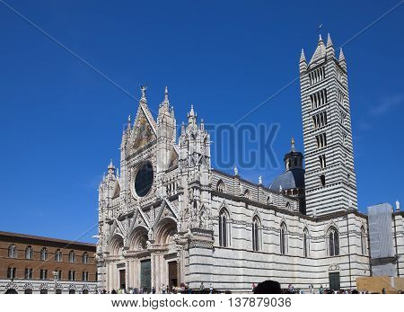 Siena cathedral in a sunny day Tuscany Italy.