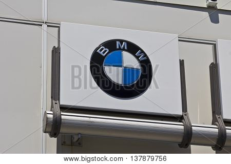 Indianapolis - Circa July 2016: A Local BMW Dealership. BMW is a Luxury Car Manufacturer Based in Germany II