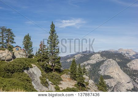 Glacier point in Yosemite National Park America
