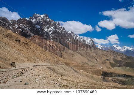 Stunningly beautiful mountain road through the Western Tibet, China