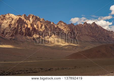 Beautiful landscape in the remote area of Western Tibet