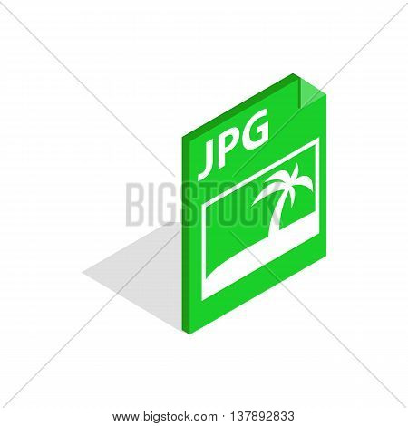 File JPG icon in isometric 3d style isolated on white background