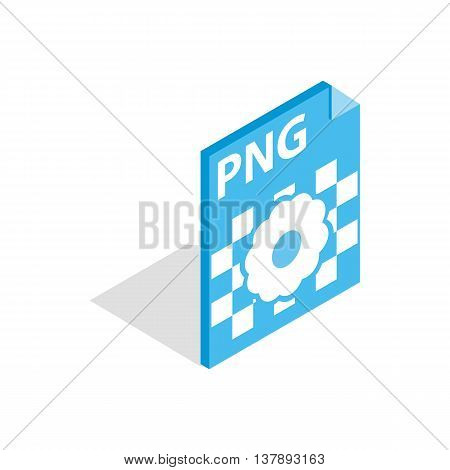 PNG image file extension icon in isometric 3d style isolated on white background