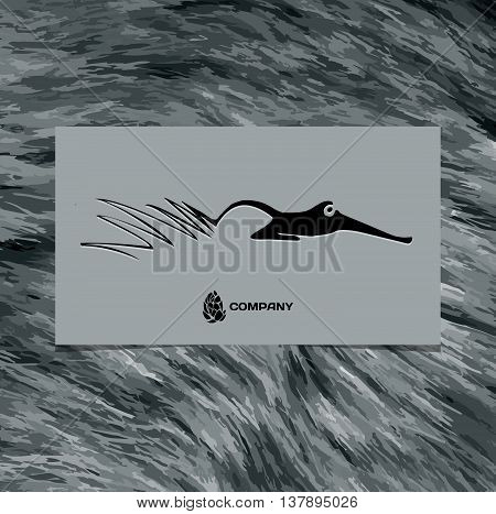 vector logo abstract beautiful Fox with long tails