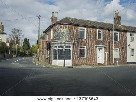 WATERINGBURY, KENT, UK, 19 APRIL 2016 - Old disused tea rooms in the pretty village of Wateringbury, Kent, UK