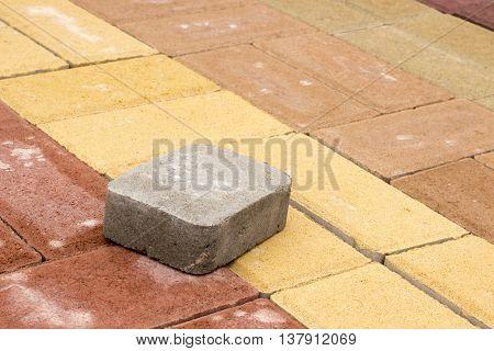 Colored Concrete Paving Slab Texture, Building Material,