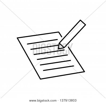 To Do List. Line Art Icon. A hand drawn vector illustration of a to do list/checklist paper reminder line art icon.