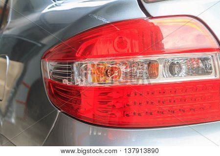 Taillight of the car was broken by accident