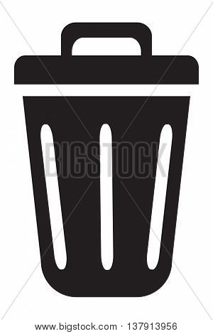 Trash Can Icon garbage computer icon symbol delete key illustration