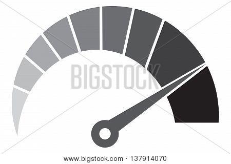 icon of speedometer computer icon speedometer speed time