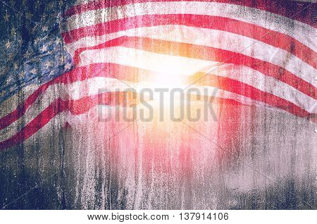 USA flag grunge backgroundfor 4th julymemorial day or veterans day.