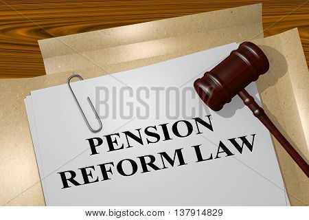 Pension Reform Law Concept