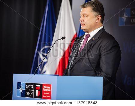 President Of Ukraine Petro Poroshenko At Nato Sammit
