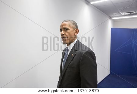 Us President Barack Obama At Nato Summit