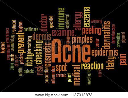 Acne, Word Cloud Concept