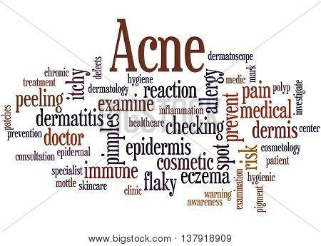 Acne, Word Cloud Concept 3