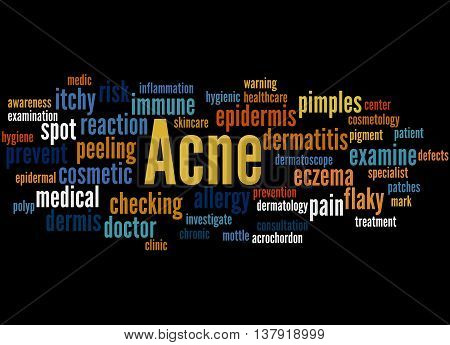 Acne, Word Cloud Concept 7