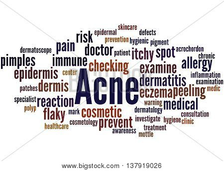 Acne, Word Cloud Concept 8